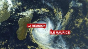 Carte satellite cyclone Réunion