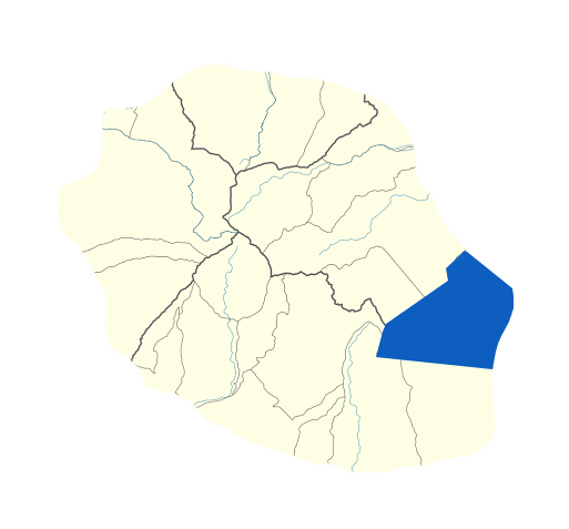 Carte Sainte-Rose Réunion